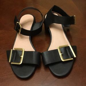 Top shop low heels Black Women sandals open toes